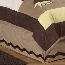 Dinosaur Land Full/Queen Bed Skirt
