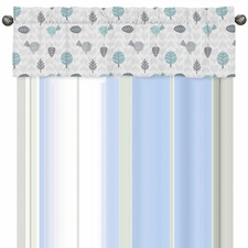 Earth and Sky Print Valance