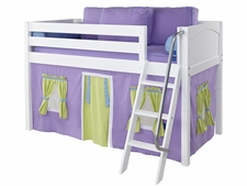 Easy Rider 75 Twin Low Loft, Ang. Ladder & Purple/Green/Blue Curtain