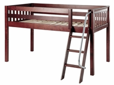 Easy Rider Twin Low Loft Bed with Angled Ladder