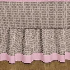 Elephant Pink Full/Queen Bed Skirt
