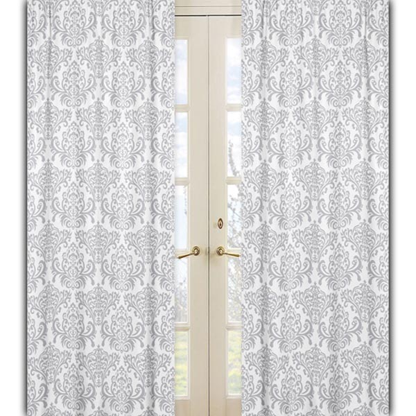 Curtains Ideas damask curtain : ... Jojo Designs Elizabeth Damask Pink & Gray Curtains - Curtain Panels
