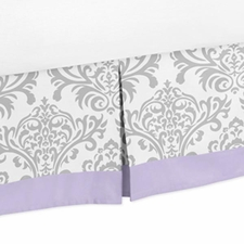 Elizabeth Lavender and Gray Full/Queen Bed Skirt