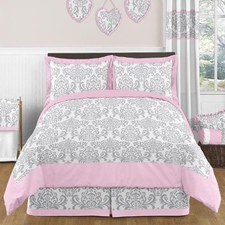 Elizabeth Pink and Gray Comforter Set