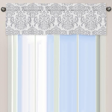 Elizabeth Pink and Gray Window Valance