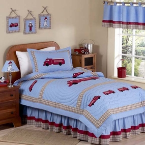 Fire Truck Kids Bedding Collection