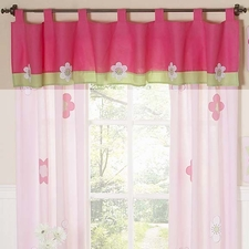 Flower Pink & Green Window Valance