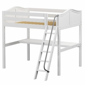 Giant 1 Full High Loft Bed with Angled Ladder and Desk Top