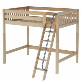 Giant Full High Loft Bed with Angled Ladder