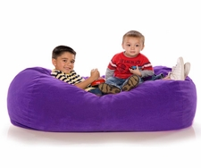Grape Microsuede Lounger Jr.