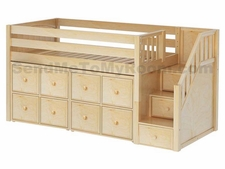 Great 5 Low Loft Storage Bed with Stairs