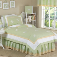 Green Dragonfly Dreams Comforter Set