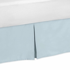 Hayden Blue and Taupe Full/Queen Bed Skirt