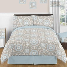 Hayden Blue and Taupe Kids Comforter Set