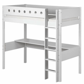High Sleeper Loft Bed with Desk Top in White