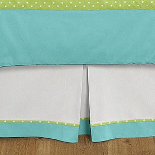 Hooty Turquoise and Lime Full/Queen Bed Skirt