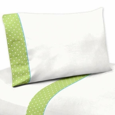Hooty Turquoise and Lime Kids Sheet Set