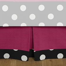 Hot Dot Full/Queen Bed Skirt