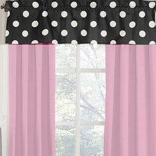 Hot Dot Window Valance