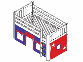 I Love You 21 Low Loft Bed with Medium/Low Bed Ends
