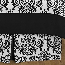 Isabella Black and White Full/Queen Bed Skirt