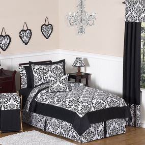 Isabella Black and White Kids Bedding Collection