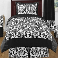 Isabella Black and White Kids Comforter Set