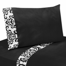 Isabella Black and White Kids Sheet Set