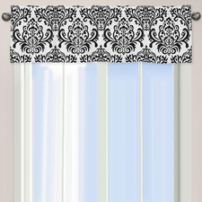 Isabella Black and White Window Valance