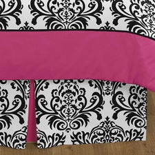 Isabella Pink Full/Queen Bed Skirt