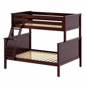 Jackpot Twin/Full Panel Bunk Bed in Cherry