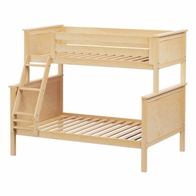 Jackpot Twin/Full Panel Bunk Bed in Natural