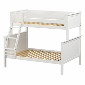 Jackpot Twin/Full Panel Bunk Bed in White