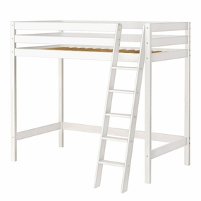 Jackpot Twin High Loft Bed in White