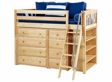 Kaching 2 Twin Mid-Height Storage Loft Bed with Angled Ladder