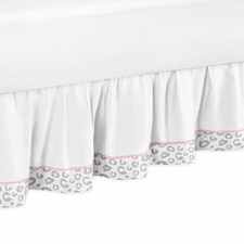 Kenya Pink and Gray Full/Queen Bed Skirt