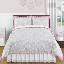 Kenya Pink and Gray Kids Comforter Set