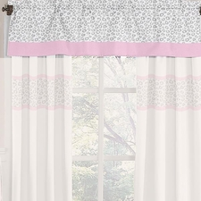 Kenya Pink and Gray Window Valance