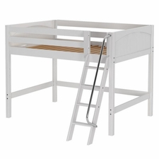Kong Full Mid-Height Loft Bed with Angled Ladder