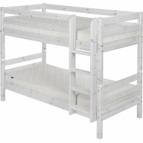 Twin/Twin Low Bunk Bed in Whitewash
