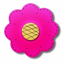 Magenta Lolli Flower Drawer Pull