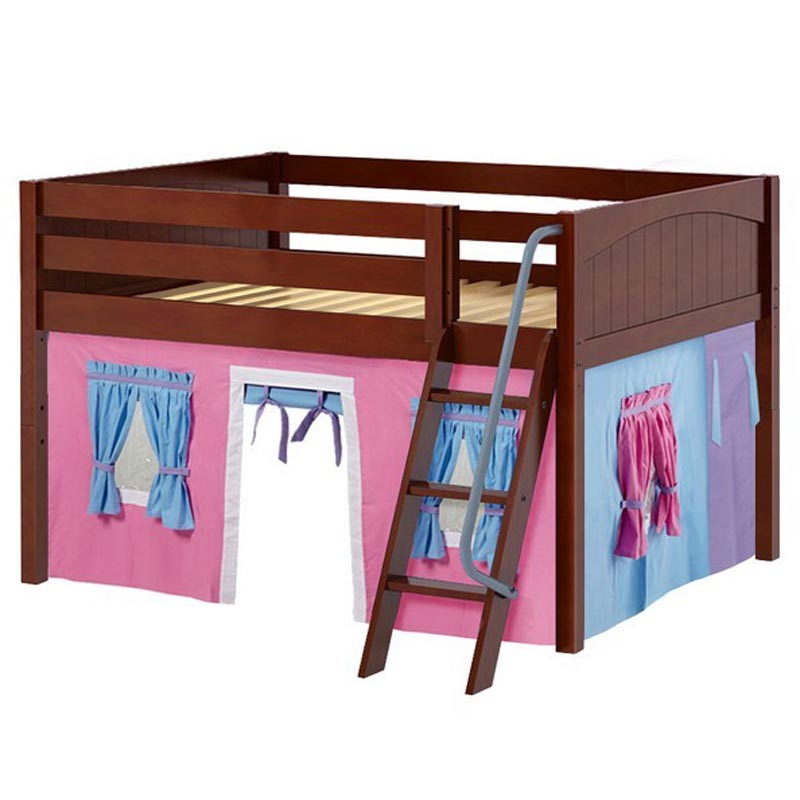 28 full size low loft bed with angled ladder full size low loft beds