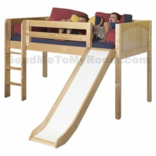 Marvelous Twin Low Loft Bed with Slide