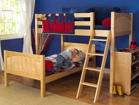 Mash Twin/Twin Mid-Height Loft Bed with Angled Ladder