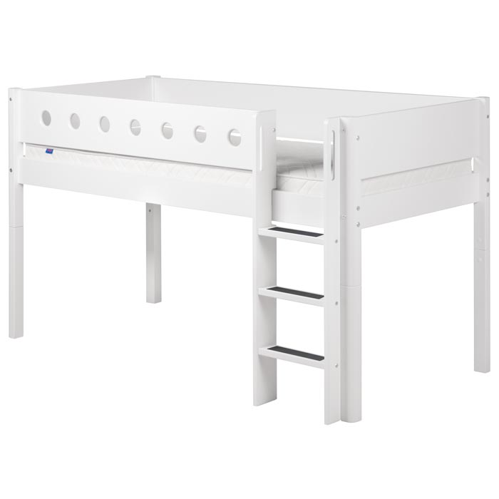 Flexa Midsleeper Loft Bed in White  Flexa Kids Beds 700 x 700