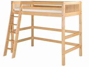 Mission High Loft Bed in Natural