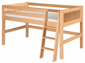 Mission Low Loft Bed in Natural