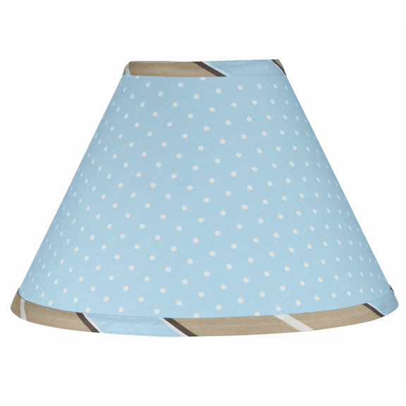 Mod Dots Blue & Chocolate Lamp Shade