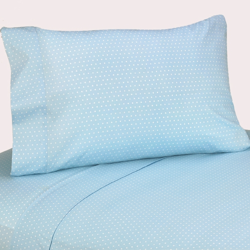 Mod Dots Blue & Chocolate Sheet Set