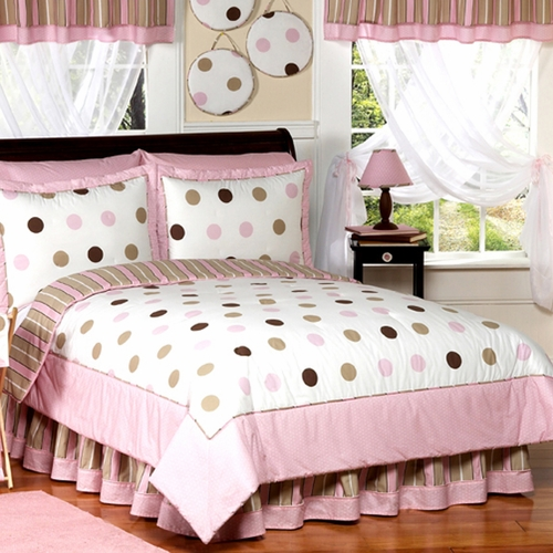 Mod Dots Pink & Chocolate Comforter Set